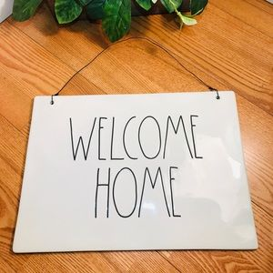 Rae Dunn WELCOME HOME sign (Large)